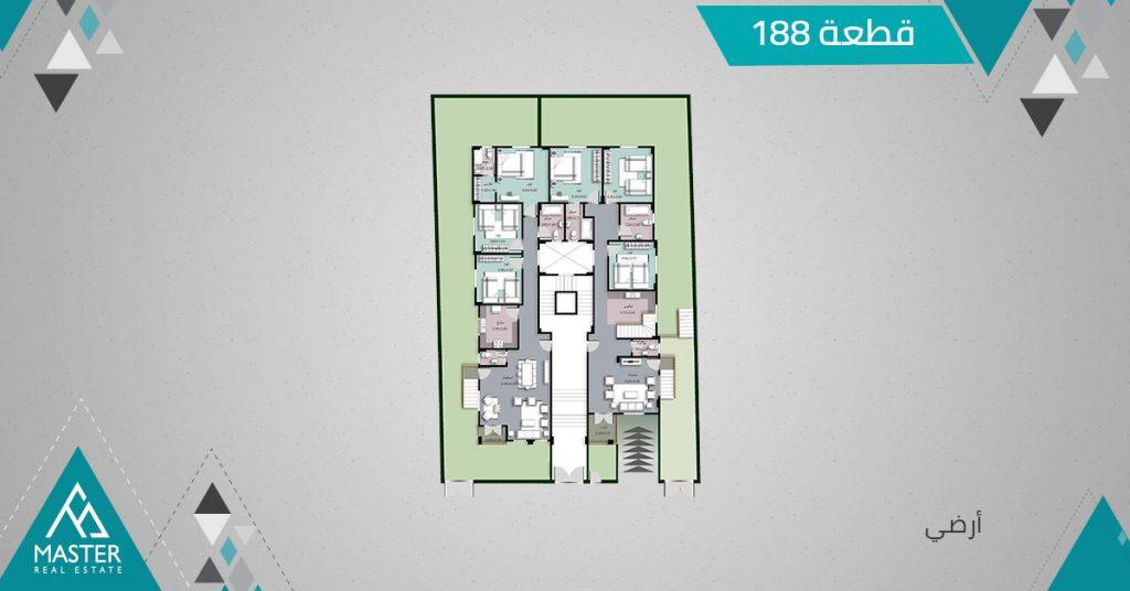 شقة ارضى فى مشروع 188 بمنطقة اللوتس الجديدة بالتجمع الخامس
